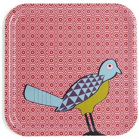 Vassoio Quadrato Birds of Paradise TRA320081