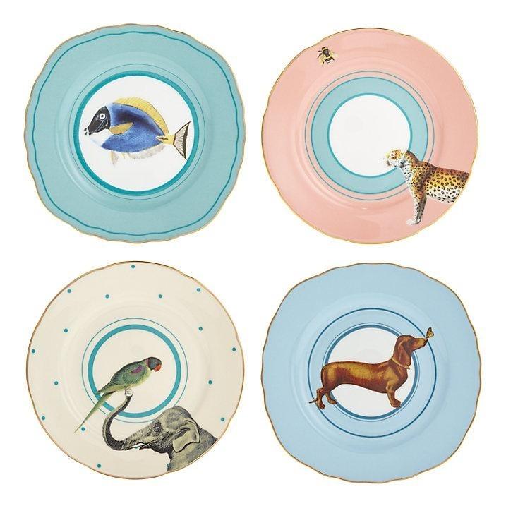 Set di piatti torta con animali Animal A22001008