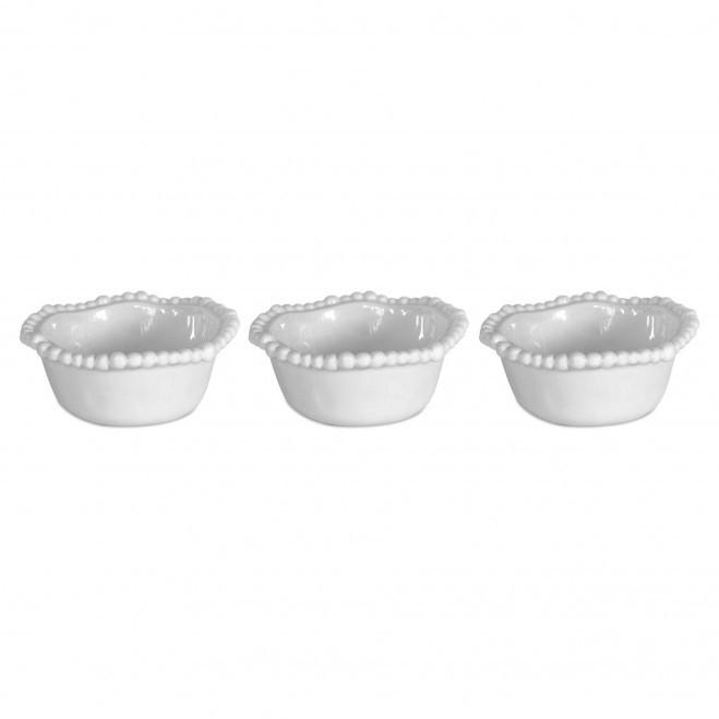 Set 3 Ciotole Bianco Joke Table & Kitchen BOW.COL01