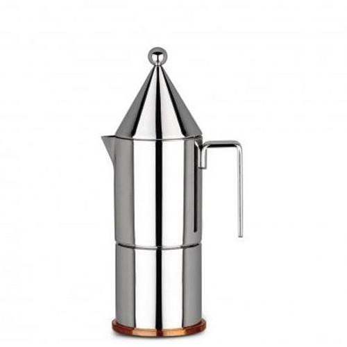 Caffettiera espresso. 3 tazze. La conica Acciaio 90002/3
