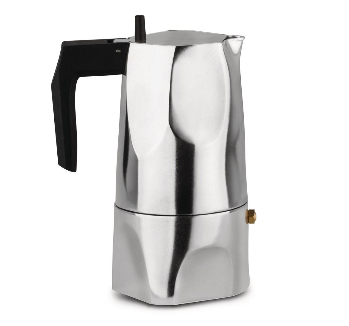 Caffettiera espresso 6 tazze Alluminio Ossidiana MT18/6