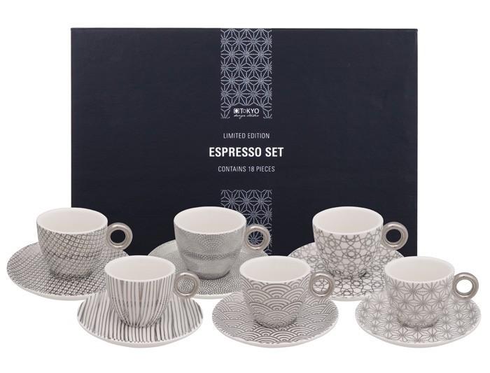 Set Espresso 18 Pezzi Limited Nippon Platinum 15963