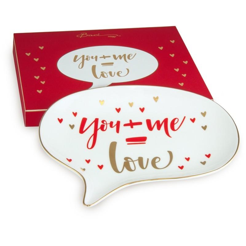 Piatto Chat Shine You+me=Love SCHA.SHI03