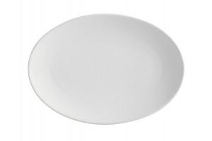 Caviar Piatto Ovale Bianco 35x25 cm AX0245