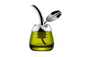 Degustaolio con tappo versatore Fior d'olio Acciaio MSA32