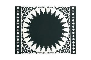 Tovaglietta Mosaic Black 2 Pcs PLA442062