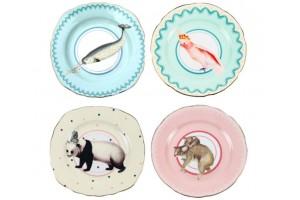 Set di piatti torta con animali Pretty Pastel Animal A22001014
