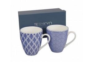 Set 2 Mug Nippon Blue Dots & Cloud 8308