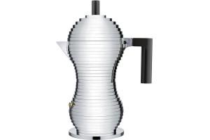 Caffettiera Pulcina 6 tazze Alluminio-Nero MDL02/6 B