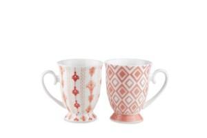 Set 2 mugs Rosa Tiles Baci Milano TSTMUG1.TILE05