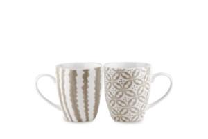 Set 2 mugs Tortora Tiles Baci Milano TSTMUG2.TILE01