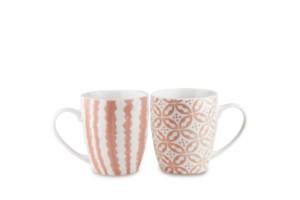 Set 2 mugs Rosa Tiles Baci Milano TSTMUG2.TILE05