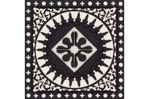 Sottobicchieri Mosaic Black & White 2Pcs COA992062