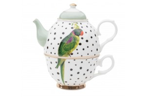 Tea for One Parrot Polka Dots A22018003