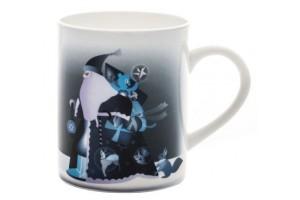 Blue Christmas Mug Babbo Natale/Renna AAA06 2