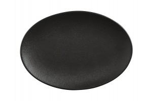 Caviar Piatto Ovale Nero 35x25 cm AX0206