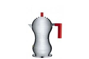 Caffettiera espresso - induzione 3 tazze Alluminio/Rosso Pulcina MDL02/3RFM