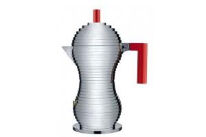Caffettiera espresso 6 tazze Alluminio/Rosso Pulcina MDL02/6 R