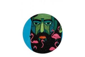 Sottobicchiere Mulga The Artist Flamingo Man DU0194