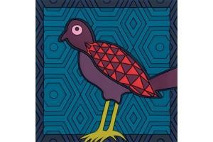 Svuotatasche Birds of Paradise Blue VPO190081