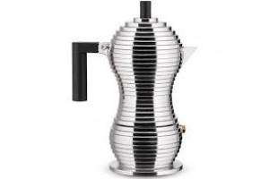 Caffettiera espresso 3 tazze Alluminio Nero Pulcina MDL02/3 B