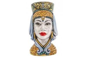 Testa di Moro Afrodite - Ornato di Caltagirone AF0016