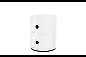 Mobile Contenitore Componibili Recycled Bianco 2 Elementi 4986/03