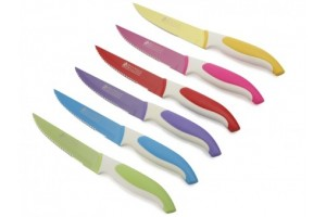 Set 6 Coltelli Bistecca Multicolor Slice & Dice NK6008