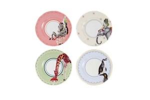 Set di piatti torta con animali Carnival Animal A22001017