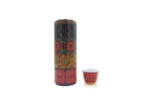 Set Scatola Di Latta con 4 tazzine da caffè Vagabonde POR602084