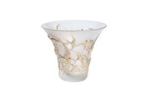 Vaso cristallo Timbrato Oro Rondini 10624000