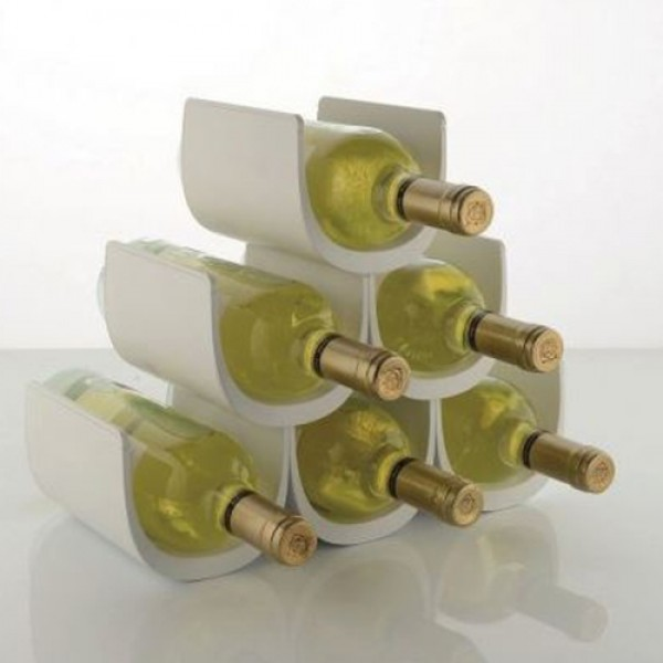 Alessi No/è GIA13 Portabottiglie di Design in Resina Termoplastica Multicolore Bianco /& AAM32 1 Proust Parrot Cavatappi per Vino di Design in Alluminio Profuso e PC